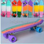 Скейт Penny Board Радуга MS 0746
